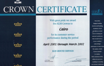Crown Certificate 2001-2002