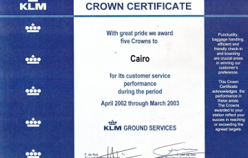 Crown Certificate 2002-2003